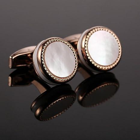 Caliente venta madre perla gemelos francés camisa boda Bouton alta ...
