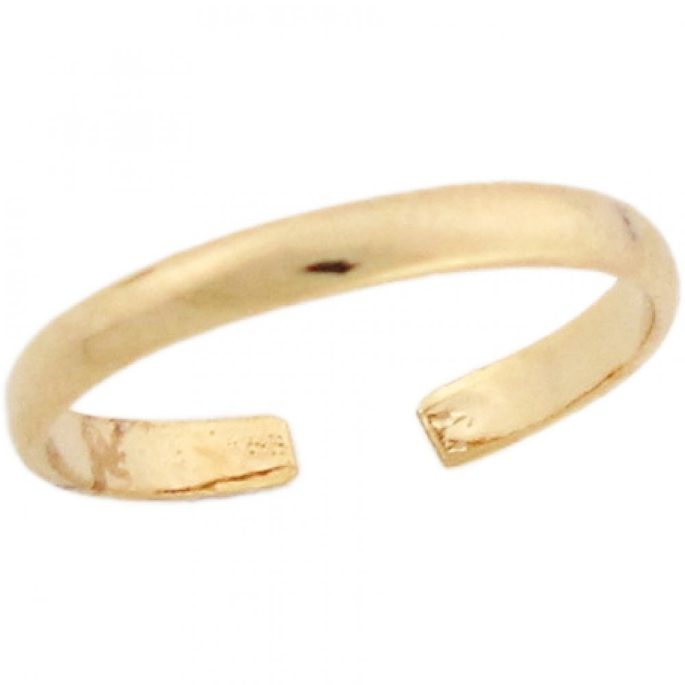 10k Yellow Real Gold 1.8mm Band Womens Toe Ring