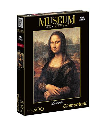 Clementoni Leonardo DaVinci Mona Lisa Puzzle (500-Piece) Da Vinci Cabinet