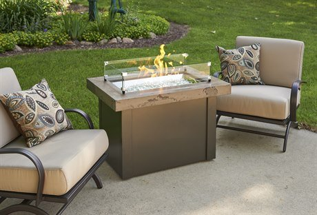 Outdoor GreatRoom Company PROV-1224-MNB-K Providence Gas Fire Pit, Marbleized Noche