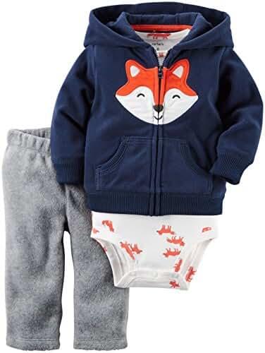 Carter's Baby Boys 3-Piece Fox Hoodie Set