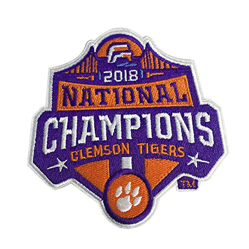 Football 13 Embroidery - 2018 College National Champions Clemson Tigers Football Iron On Embroidery Patch Vest Jacket Cap Hoodie Backpack Patches (3 inches Wide)
