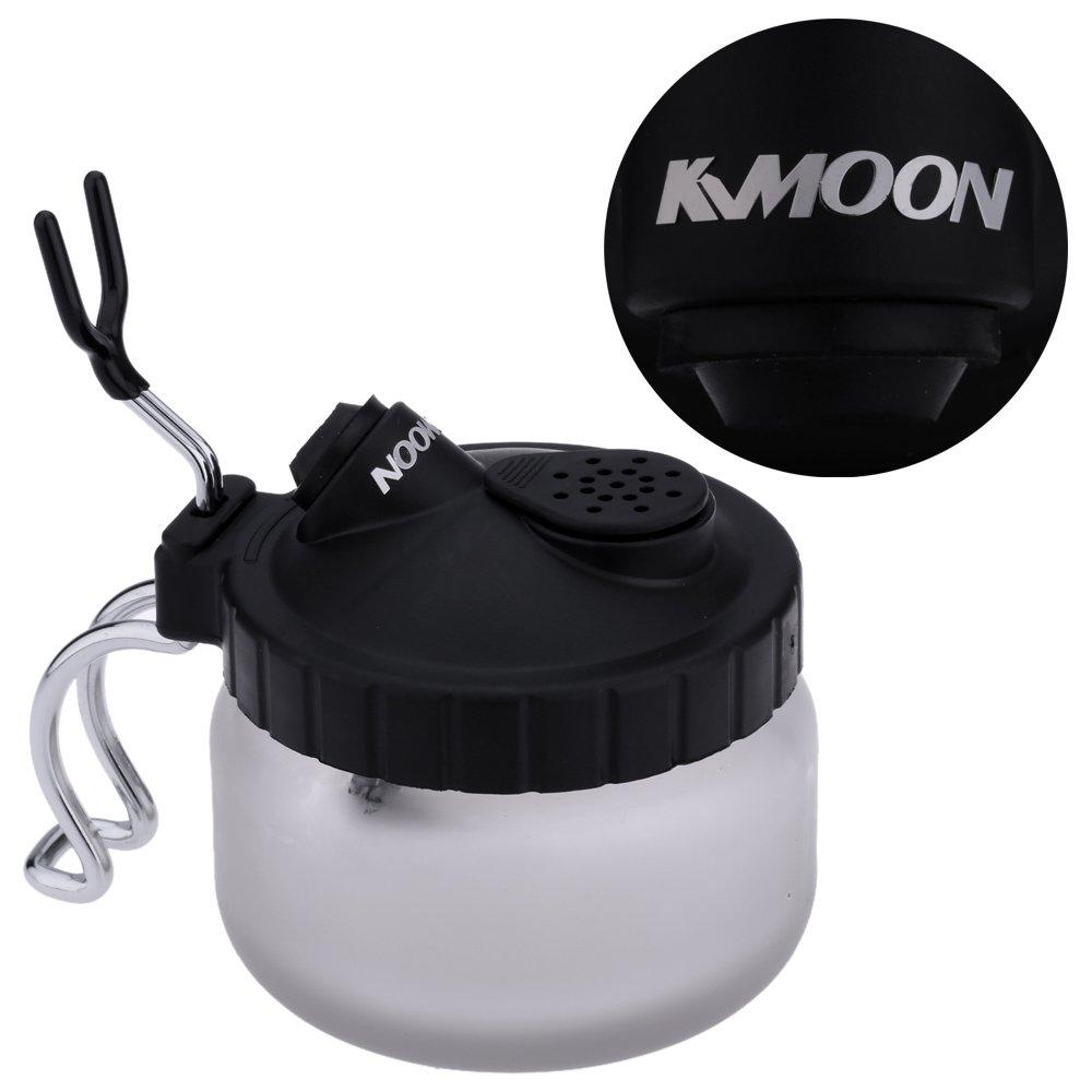 KKMOON professionale aerografo pulizia vaso vetro aria pennello titolare pulito vernice vaso bottiglia manicure tatuaggio alimentazione