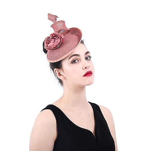 LYQ Princess para Mujer Elegante Malla de la Flor Red Velo Pluma Fascinator  Pinza de Pelo Sombrero de la Boda Cóctel Sombreros para Mujer  Amazon.es   ... cff983c166a