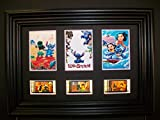 LILO STITCH Framed Trio 3 Film Cell Display Movie Memorabilia - Compliments poster dvd vhs