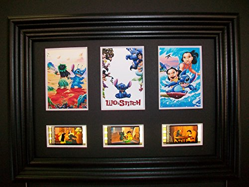 LILO STITCH Framed Trio 3 Film Cell Display Collectible Movie Memorabilia Complements Poster Book Theater