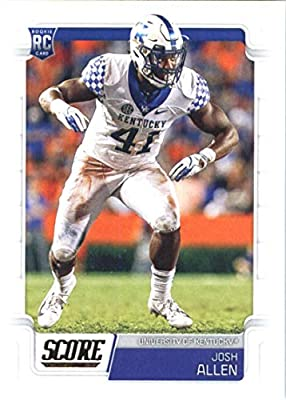 2019 Score Football #364 Josh Allen Kentucky Wildcats Rookie RC Official NFL Trading Card made by Panini