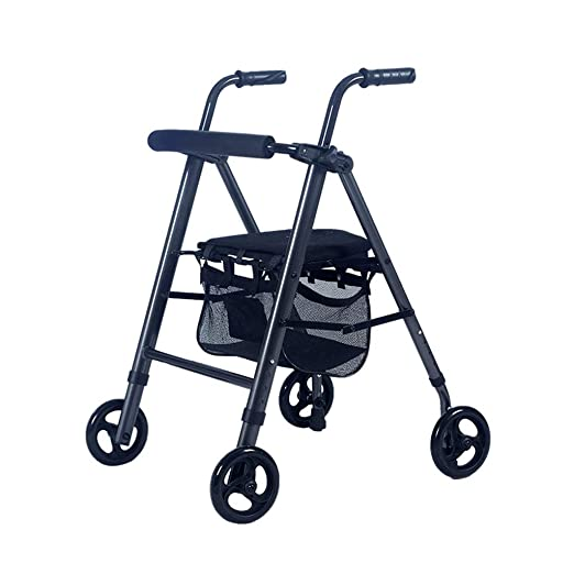 MyAou-Andadores Andador de Compras Plegable de Ancianos Walker de ...