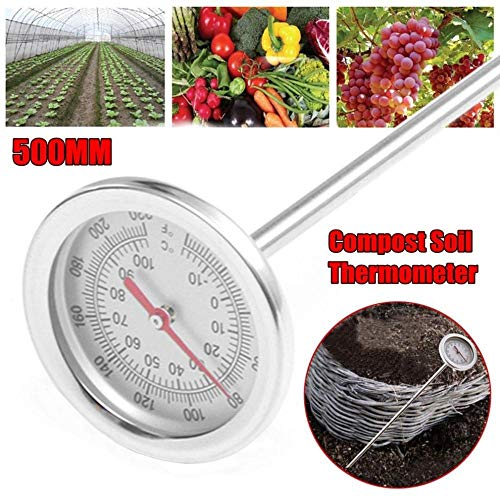 ClothingandDecor Compost Soil Thermometer 20 Inch 50 cm Length
