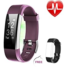 Letsfit Fitness Tracker HR, Heart Rate Monitor Activity Tracker, Pedometer Watch, Step Counter, Step Tracker and Sleep Monitor, BT Sport Watch for Kids Women Men