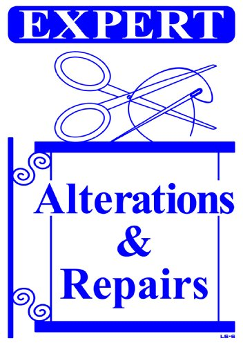 EXPERT ALTERATIONS & REPAIRS 20x14 Heavy Duty Plastic Sign