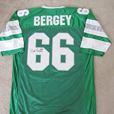 2288cc9c6 Bill Bergey Autographed Custom Green Jersey - Philadephia Eagles Legend at  Amazon s Sports Collectibles Store