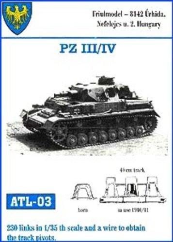 Friulmodel 1/35 Metal Track Link Set for Pz III H-J & Pz IV E  40cm width  with hollow horn