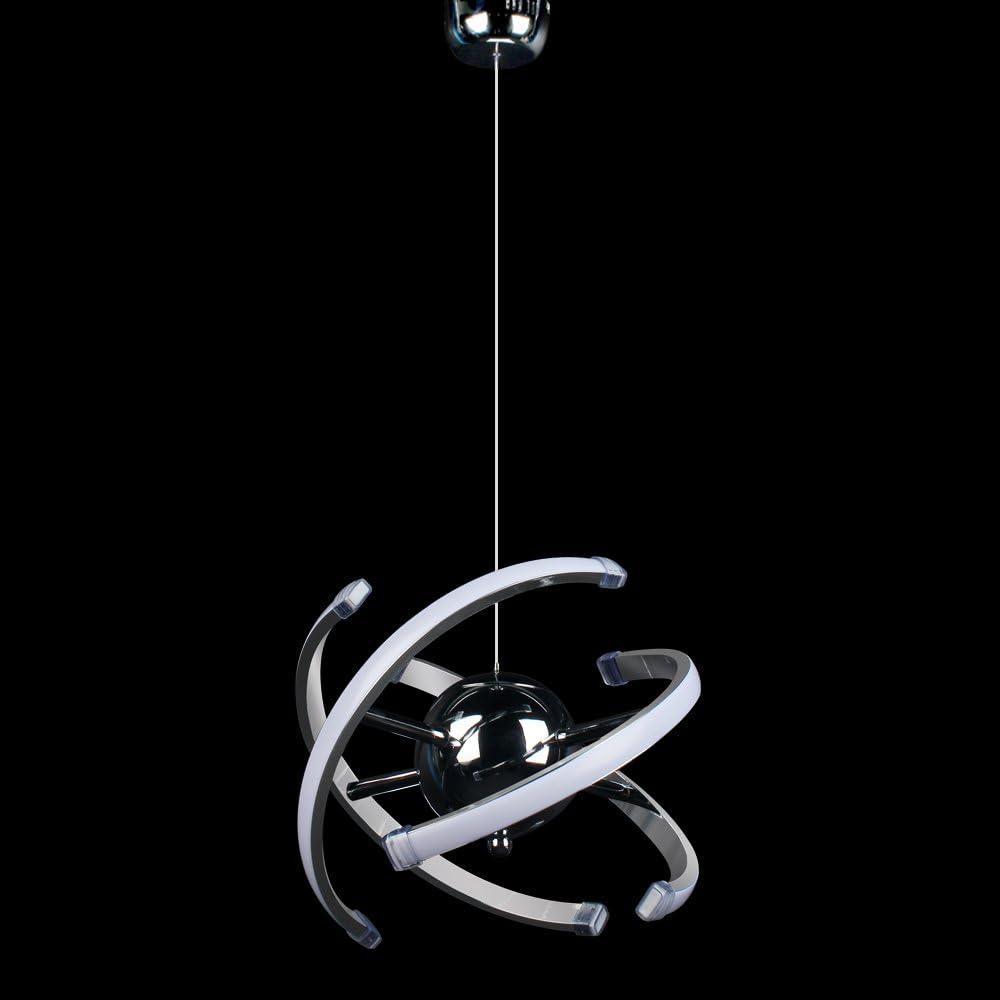 ELINKUME 23W LED moderna lámpara colgante de techo iluminación ...