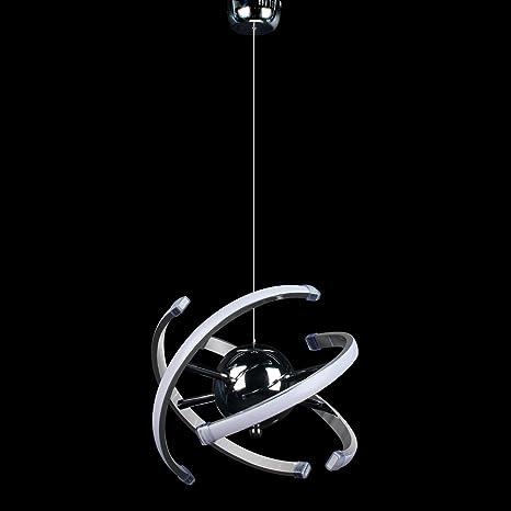 ELINKUME 23W LED moderna lámpara colgante de techo ...