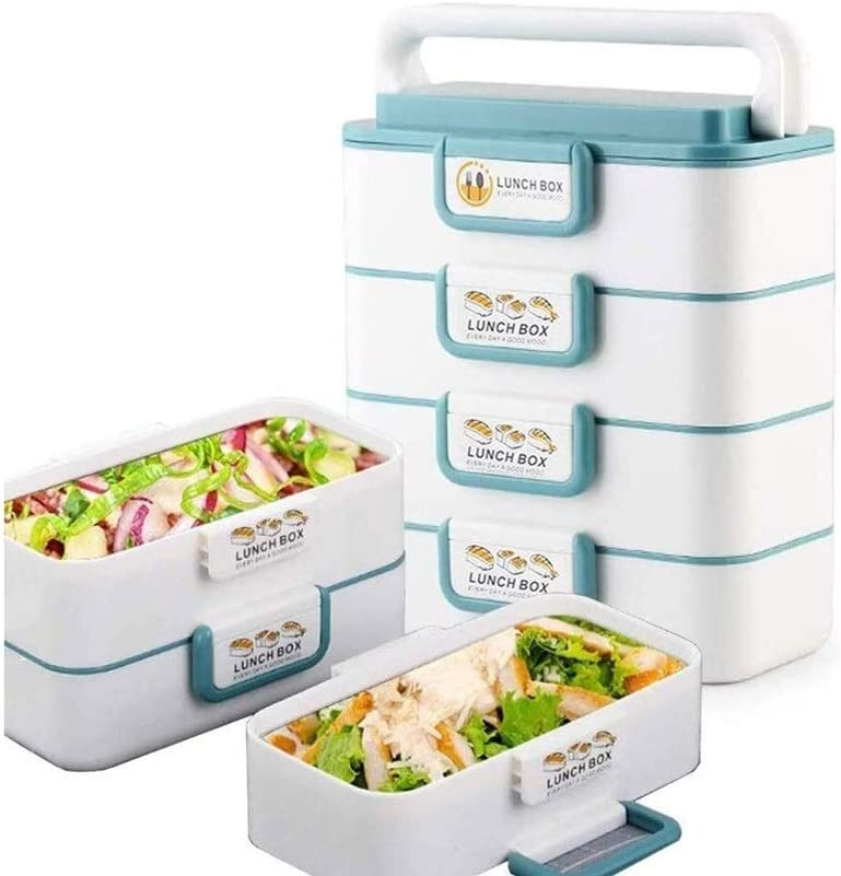 Lunch Box Portable Stackable Lunch Box Reusable, Stainless Steel Food Carrier Container, Bento Box Container for School Office Picnics Outdoors,Bento-Styled Lunch Solution Offers Durable