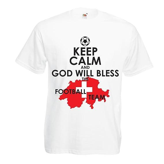Camisetas Hombre Campeonato Mundial de Fútbol de la Copa Mundial 2018, Equipo Nacional de Fútbol de Suiza: Amazon.es: Ropa y accesorios