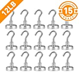 12LB Magnetic Hooks, Heavy Duty Magnet Hook with