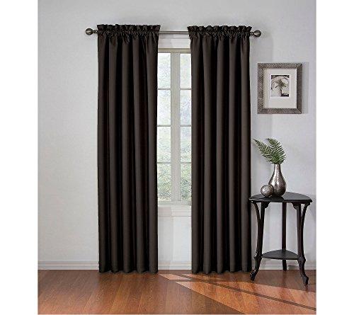 eclipse Corinne Blackout Window Curtain Black 42x84