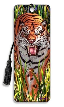 Artgame - Tiger Trouble - 3D Bookmark -