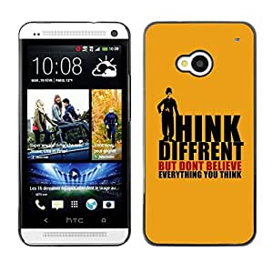 TopCaseStore / la caja del caucho duro de la cubierta de protección de la piel - Think Different; - HTC One M7