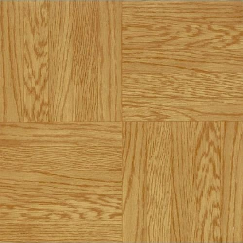 Armstrong World Industries GIDDS-289043 Parkson Units Residential No-Wax Self-Adhesive Vinyl Floor Tile, Light Oak, 12X12 In., .045 Gauge - 289043 Vinyl Anti Static Chair Mat