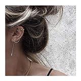 FarryDream 925 Sterling Silver Cuff Chain Earrings Wrap Tassel Earrings for Women
