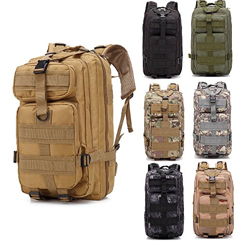 - AVGDeals 30L Outdoor Military Molle Tactical Backpack Rucksack Camping Bag Travel Hiking (Python Grain Black)