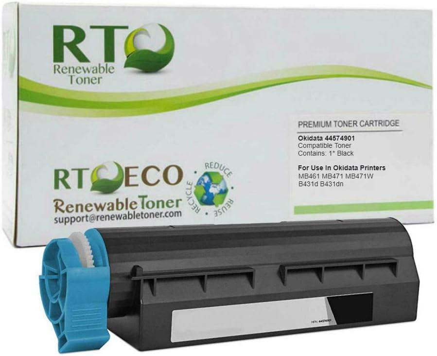 44574701 USA Advantage Compatible Toner Cartridge Replacement for Okidata B411 Black,1 Pack