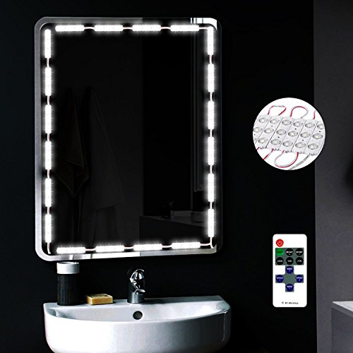 YODAY Makeup Mirror Light 10ft 60 LED Hollywood Style Mirror LED Light DIY Light Kits for Bathroom Cosmetic Mirror Decoration with Remote Dimming Switch(Mirror is not ()