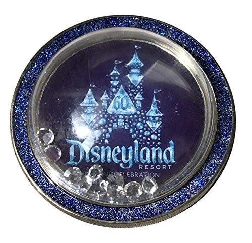 Disneyland 60th Diamond Anniversary Half Globe with Diamond Snow Trading Pin (Disney 60th Pin Anniversary)