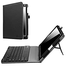 Fintie iPad 9.7 2018 / 2017 / iPad Air 2 / iPad Air Keyboard Case - Folio Stand Cover with Removable Wireless Bluetooth Keyboard for Apple iPad 6th / 5th Gen, iPad Air 1 / 2, Black