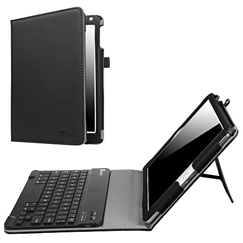 Fintie iPad 9.7 2018 2017 / iPad Air 2 / iPad Air Keyboard Case - Folio Stand Cover with Removable Wireless Bluetooth Keyboard for Apple iPad 6th / 5th Gen, iPad Air 1/2, Black