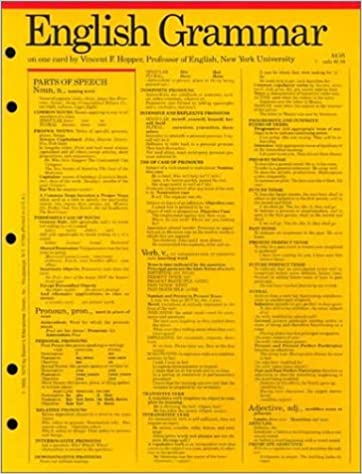 English Grammar, Punctuation and Usage (Grammar Card Guides ...