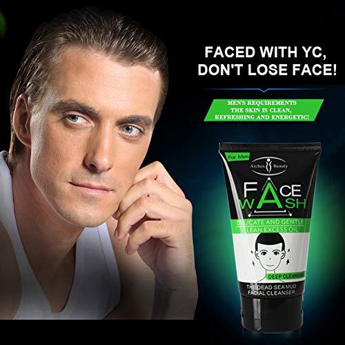 Facial Cleanser, Tiefenreinigung Face Wash für Männer Feuchtigkeitsspendende Whitening Oil-Control Whitening Foaming Facial Cleanser