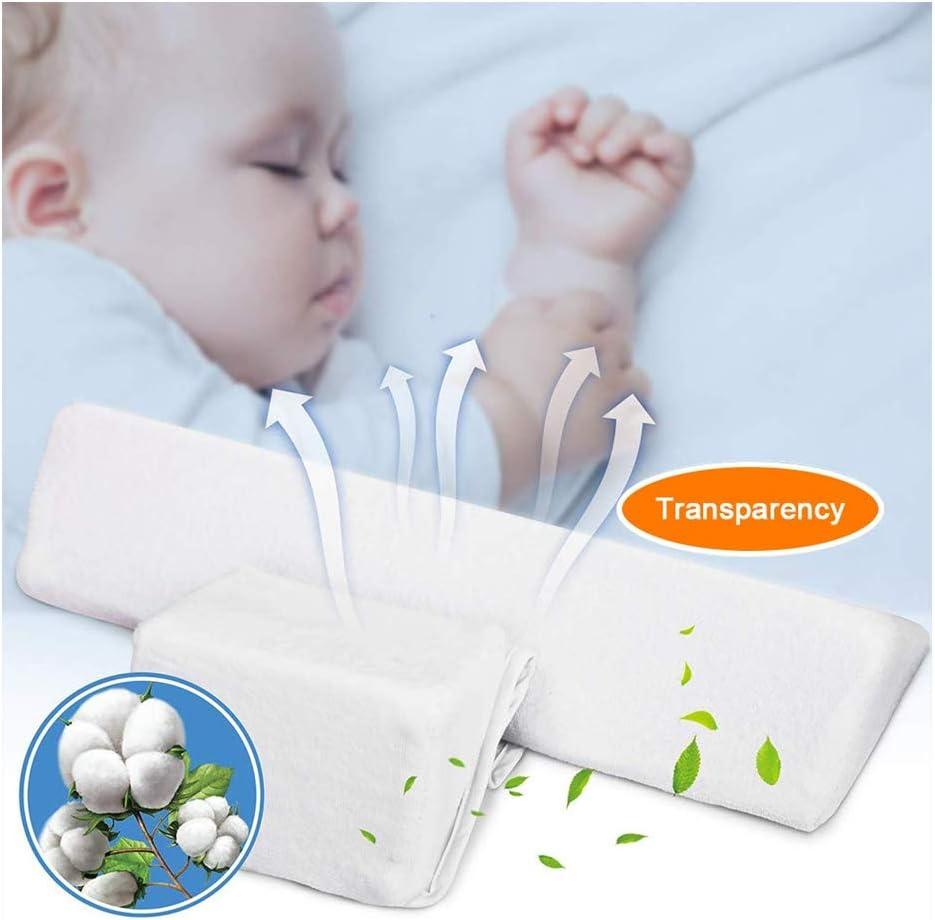 Almohada para bebés del lado de los bebés recién nacidos - Cabeza antipolar, leche lavable y anti escupir - Almohada de lactancia para niños más seguros