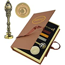 Samyo Creative Romantic Stamp Maker Classic Old-Fashioned Style Brass Color Wax Seal Sealing Stamp Vintage Antique Alphabet Initial Letter Set - (Letter C)