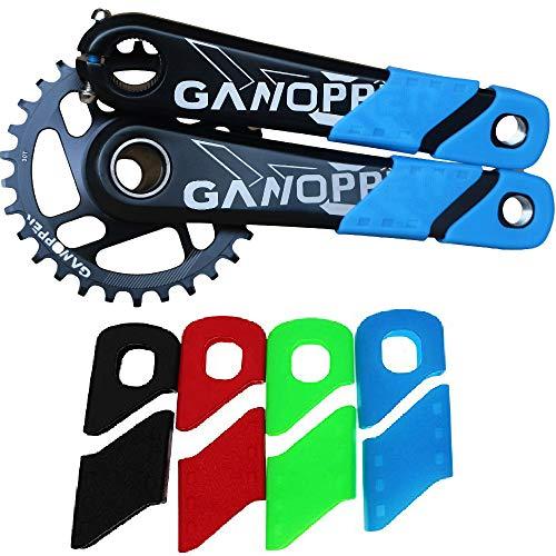 ganopper MTB Mountain Bike Crankset Caps Protector DH FR AM XC Rail Bicycle Crank Boots Dust Proof Cover - Bike Mountain Crank Xc