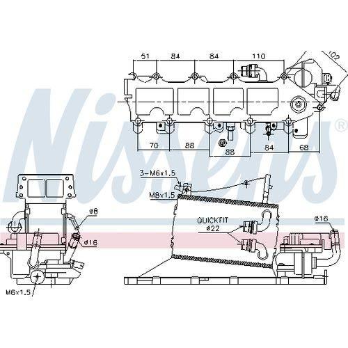 Nissens 96116 Turbo Intercooler: