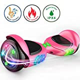 TOMOLOO Hoverboard with Bluetooth Speaker Smart Scooter Two-Wheel Self Balancing Electric Scooter and Lights – Black Hover Board with UL2272 Certified for Adults and Children.