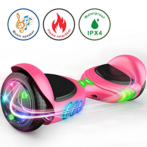 TOMOLOO Hoverboard with Bluetooth Speaker Smart Scooter Two-Wheel Self Balancing...