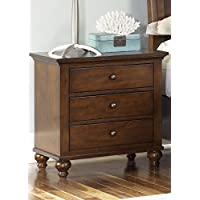 Liberty Furniture 341-BR61 Hamilton 3-Drawer Night Stand, 28 x 18 x 29, Cinnamon