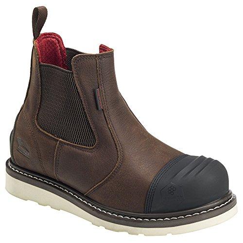 Avenger Men's Waterproof Romeo Wedge Work Boot Composite Toe Brown 8 D