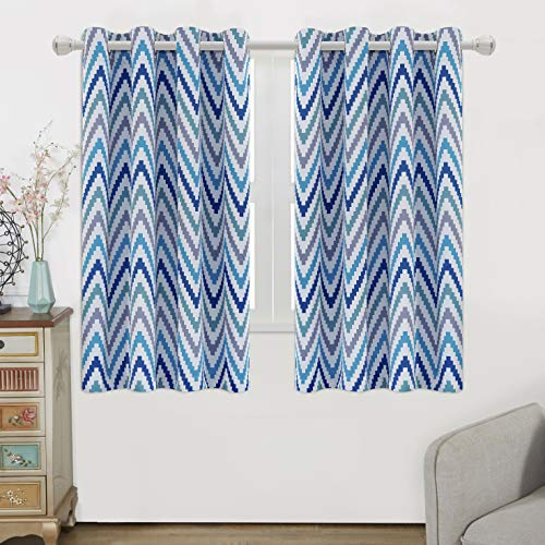WONTEX Chevron Printed Thermal Insulated Blackout Curtains, Grommet