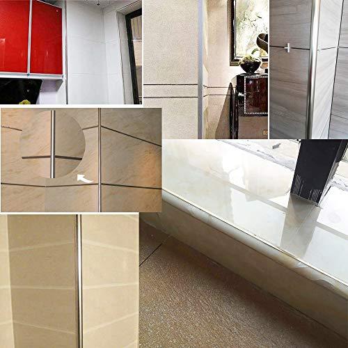 Borde para azulejos (10 unidades, borde redondo, 2,44 m de largo x 8 mm de profundidad): Amazon.es: Bricolaje y herramientas