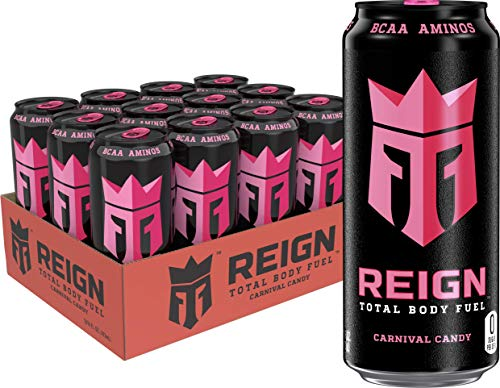 Reign Total Body Fuel, Carnival Candy, Fitness & Performance Drink, 16 oz (Pack of 12) -