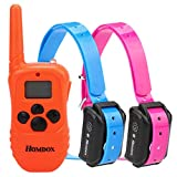 Homdox Water Proof Rechargeable Adjustable Pet Training Collars Water Resistant Dog Training Collar Adjustable E Collar with Wireless Remote (Another Dog Training Collar 2 Dogs)