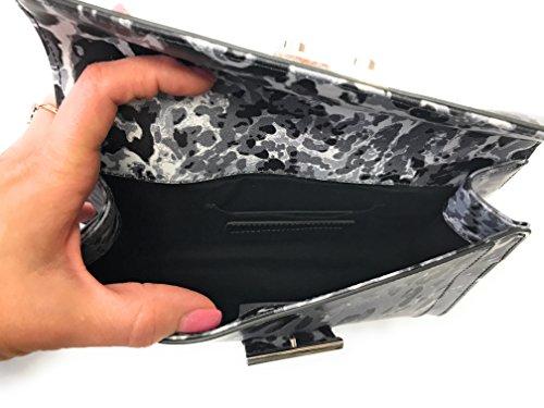 Diesel, Poschette giorno donna Grigio Grau, schwarz gemustert 23x15x5,5