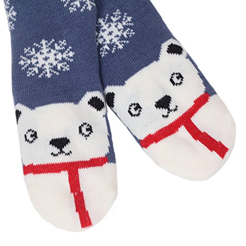 Socks 02snowman Indoor Cartoon Cute Soft Womens Marlong Winter Slipper Cozy Warm fuzzy Non Animals Slip 6Oqnafgw