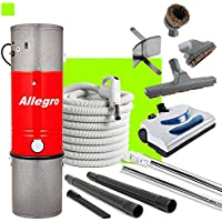Allegro Central Vacuum MU4100 3,000 sq. ft. Unit and 30 ft Hose and Powerhead Kit